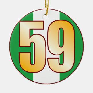 59 NIGERIA Gold Ceramic Ornament