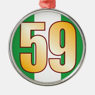 59 NIGERIA Gold Metal Ornament
