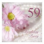 59.o Invitación de la fiesta de cumpleaños con las