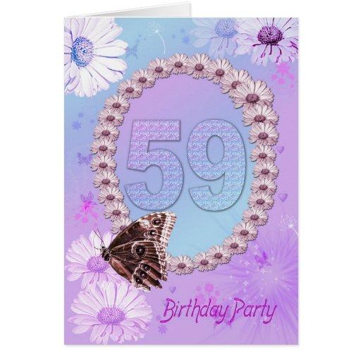 59.o Invitación de la fiesta de cumpleaños Felicitación