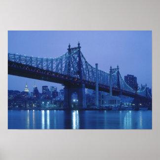 59.o Puente de la calle, Nueva York, los E.E.U.U. Póster