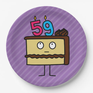 59.o Torta de cumpleaños con las velas Platos De Papel