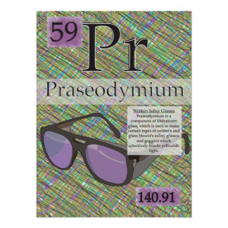 59. Praseodymium (Pr)Periodic Table of the Elemens Poster