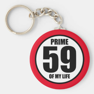 59 - prime of my life keychain