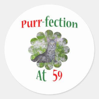 59 Purr-fection Round Stickers