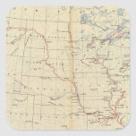 59 ríos navegables, rutas 1890 pegatina cuadrada