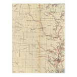 59 ríos navegables, rutas 1890 postal