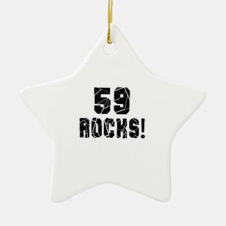 59  Rocks Birthday Designs Ceramic Ornament