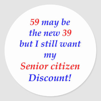 59 Senior Citizen Round Stickers