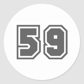 59 ROUND STICKERS