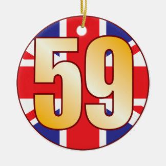 59 UK Gold Ceramic Ornament