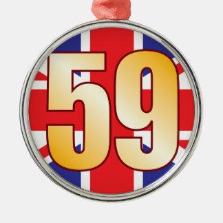 59 UK Gold Metal Ornament