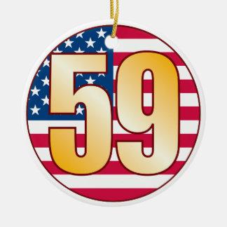 59 USA Gold Ceramic Ornament