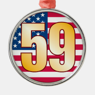 59 USA Gold Metal Ornament