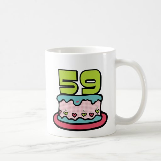 59 Year Old Birthday Cake Coffee Mug