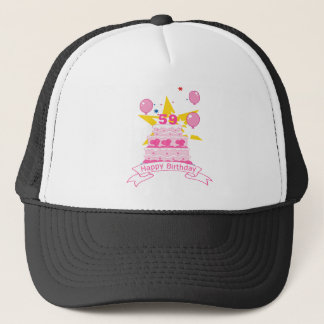 59 Year Old Birthday Cake Trucker Hat