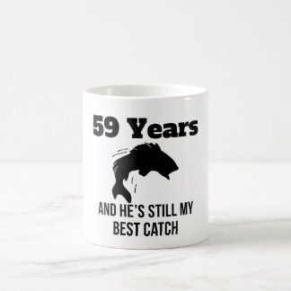 59 Years Best Catch 11 Oz Magic Heat Color-Changing Coffee Mug