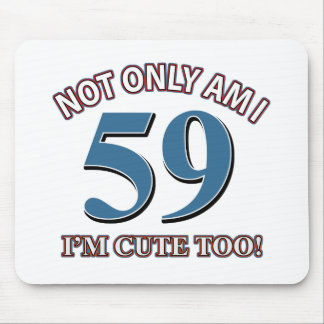 59 years Old birthday designs Mouse Pad