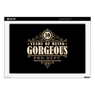 """59th Birthday (59 Years Of Being Gorgeous) Decals For 17"""" Laptops"""