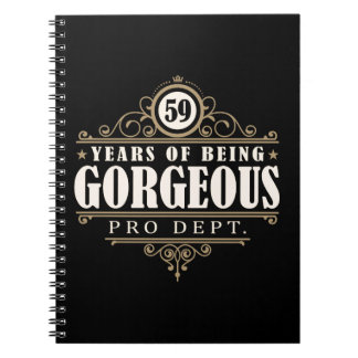 59th Birthday (59 Years Of Being Gorgeous) Spiral Notebook