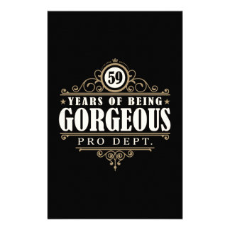 59th Birthday (59 Years Of Being Gorgeous) Stationery