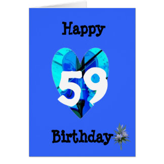 59th Birthday Card