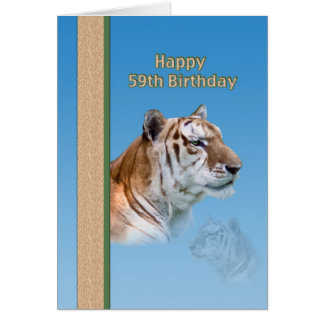 59th Birthday Card with Tiger