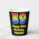 [ Thumbnail: 59th Birthday: Colorful, Fun, Exciting, Rainbow 59 ]