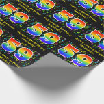 [ Thumbnail: 59th Birthday: Colorful Music Symbols, Rainbow 59 Wrapping Paper ]