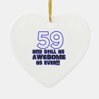 59th birthday design ceramic ornament