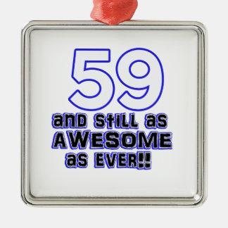 59th birthday design metal ornament