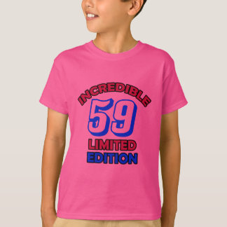 59th Birthday Design T-Shirt