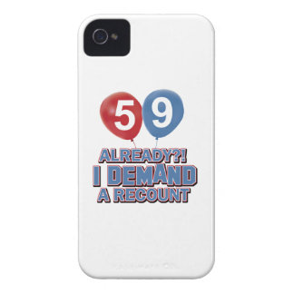 59th birthday designs iPhone 4 Case-Mate cases
