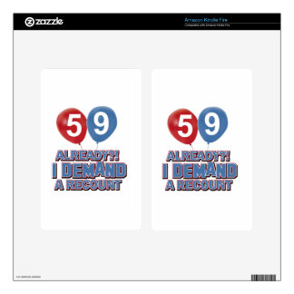 59th birthday designs kindle fire skins