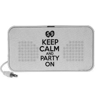 59th birthday designs portable speaker