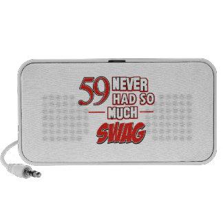 59th birthday designs mini speakers