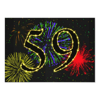 59th birthday party invitate card