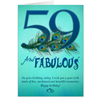 59th Birthday template Cards