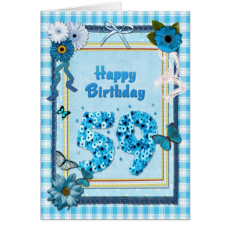 59th  Birthday with a scrapbook effect Card