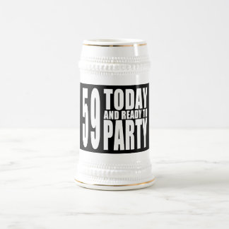 59th Birthdays Parties : 59 Today & Ready to Party 18 Oz Beer Stein