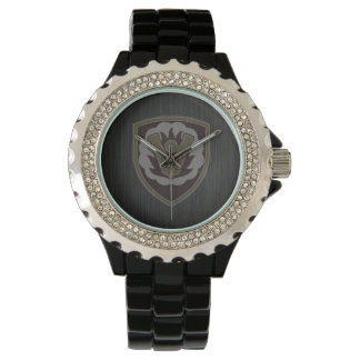 59th Ordnance Brigade Patch embossed brushed metal Watch