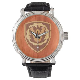 59th Ordnance Brigade Patch - oak wood inlay look Watch