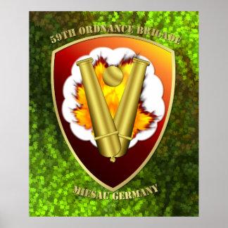 59th Ordnance Brigade Patch Poster