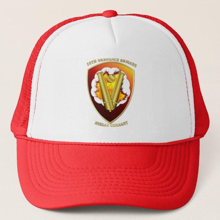 59th Ordnance Brigade Adjustable Baseball Cap Mesh Cap Trucker Hats