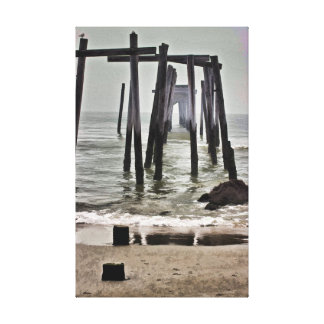 59th Street Abandoned Pier Canvas Print