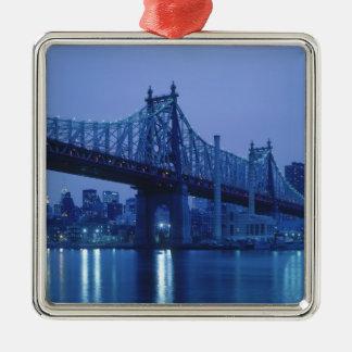59th Street Bridge, New York, USA Metal Ornament