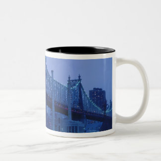 59th Street Bridge, New York, USA Two-Tone Coffee Mug