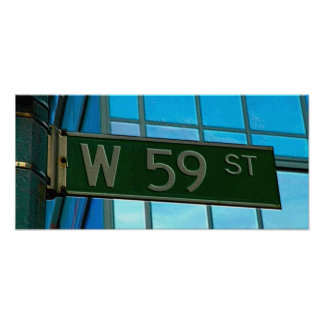 59th Street, New York City Street Sign