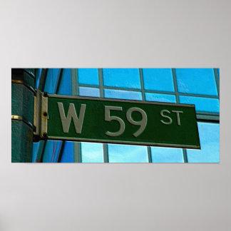 59th Street New York City Street Sign Print