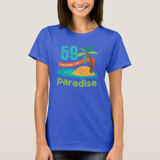 59th Wedding Anniversary Funny Gift For Her T-Shirt